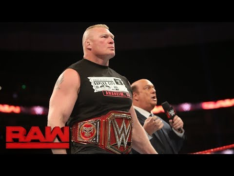Paul Heyman provokes a fight between Braun Strowman and Brock Lesnar: Raw, Sept. 11, 2017