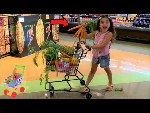 Sally Shopping for Healthy food at the Supermarket