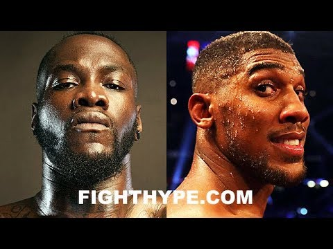 """DEONTAY WILDER RIPS """"JOKE"""" ANTHONY JOSHUA FOR LOWBALL OFFER; INSISTS HE'S SCARED AND FEARS LOSING"""
