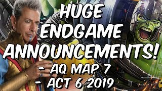 Act 6 2019 & Alliance Quest Map 7! - Huge Endgame Announcements! - Marvel Contest Of Champions