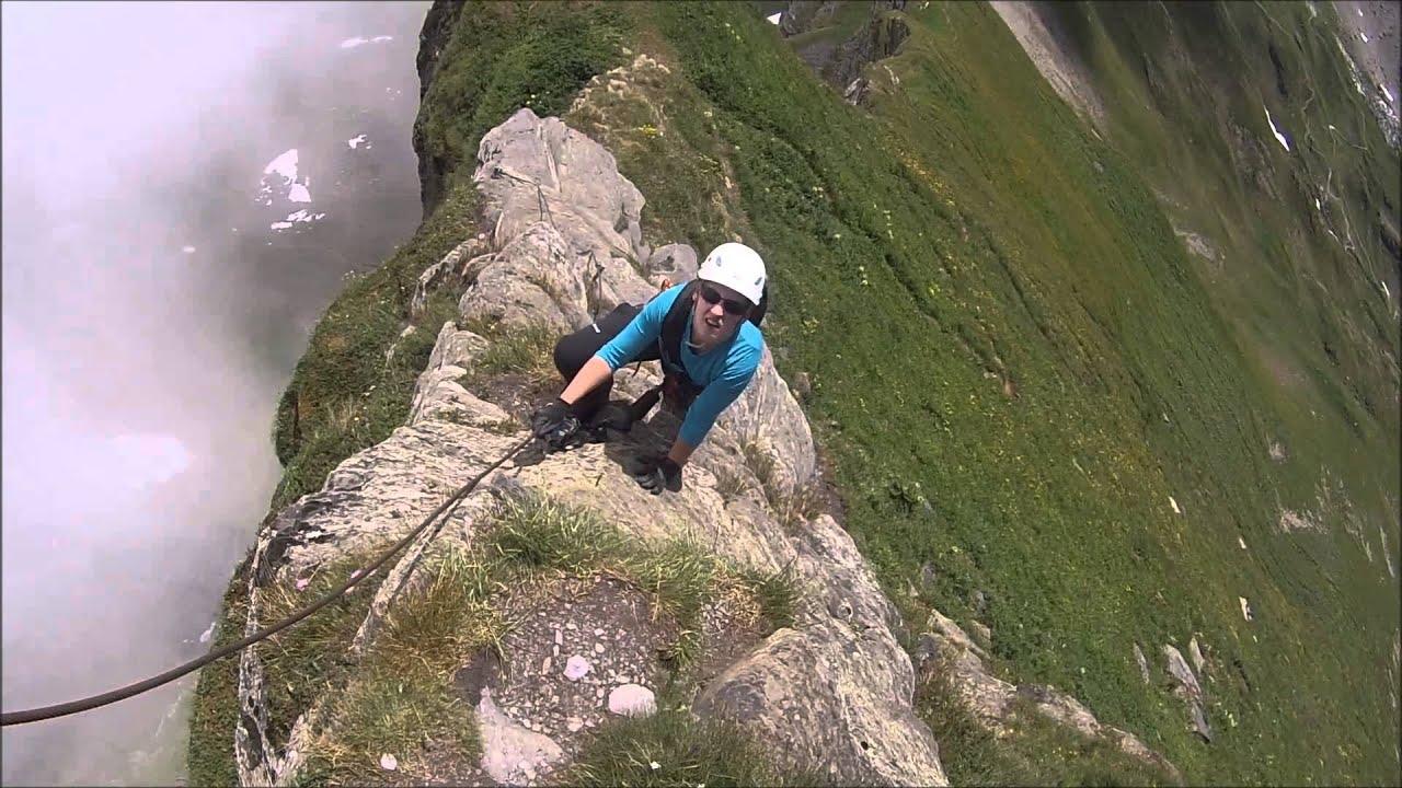 Klettersteig Graustock : Graustock klettersteig teil youtube