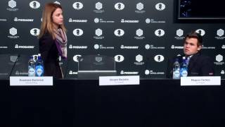 Magnus leaves press conference before it starts