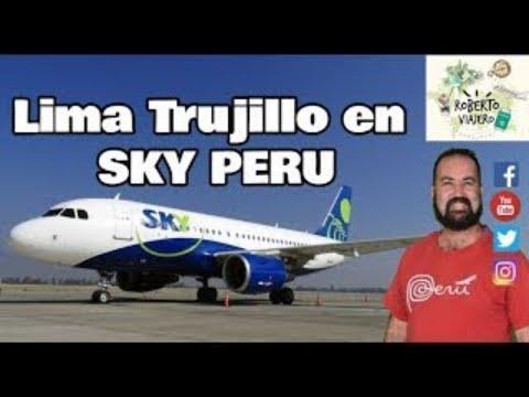 Así Es Un Vuelo De SKY PERU Desde Lima A Trujillo En El Perú ✈️