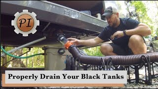 How to Empty Black Tanks & Toilet Disaster // RV Living