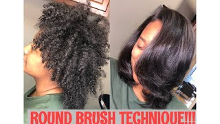ROUND BRUSH TECHNIQUE!!! MUST SEE!!