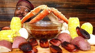 King Crab Seafood Boil with Dippin Dash Butter Sauce