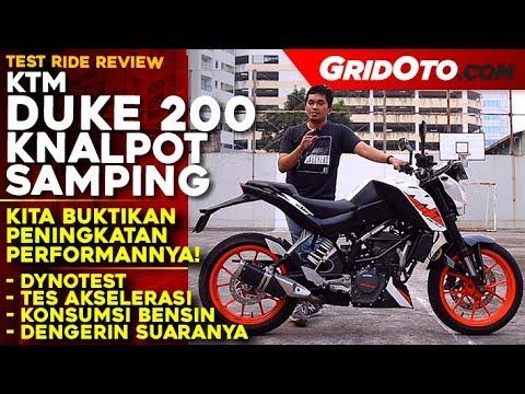 KTM Duke 200 Knalpot Samping 2018 | Test Ride Review | GridOto