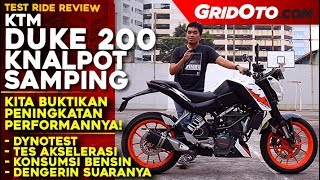 KTM Duke 200 Knalpot Samping 2018 | Test Ride Review | GridOto