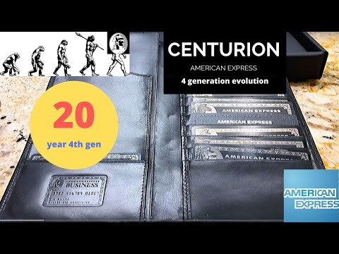 American Express Centurion Black Card Differences 4 Generations