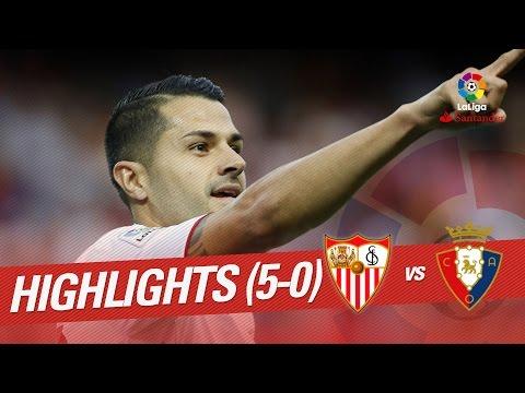 Resumen de Sevilla FC vs Osasuna (5-0)