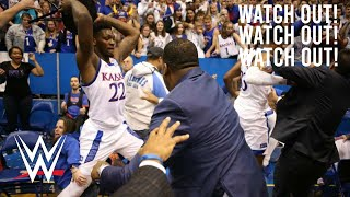 I put WWE sounds over the Kansas vs Kansas State brawl. I had to