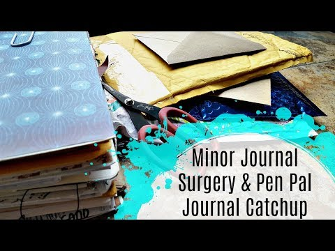 Real Time Journal with Me & Rebinding my Pen Pal Journal