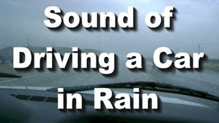 "Rainy Day Drive Long ""Sleep Sound"" Driving a Car in Rain Sound"