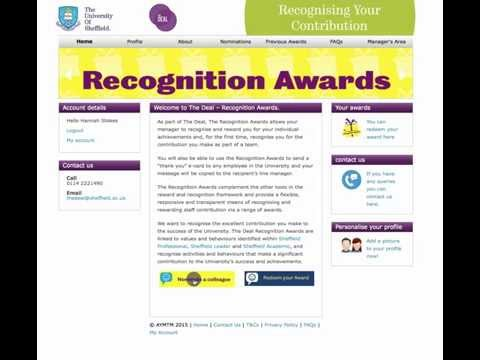 Recognition Awards - Peer to Peer nomination process