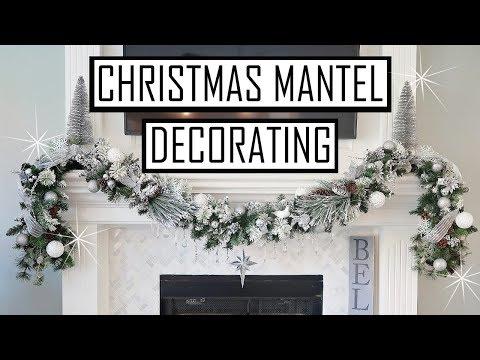 DECORATE MANTEL FOR CHRISTMAS 2018 - DOLLAR TREE MANTEL