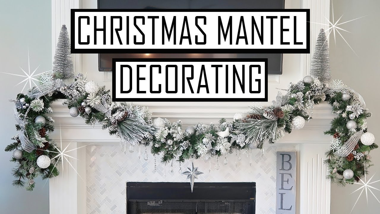 DECORATE MANTEL FOR CHRISTMAS 2018 - DOLLAR TREE MANTEL