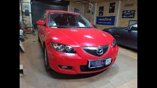 Mazda 3. Новые стёкла, новые линзы. Посмотрим как светит галоген?