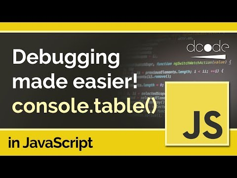 Debug your JavaScript code visually with console.table - JavaScript Tutorial thumbnail