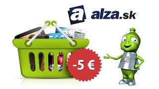 Alza.sk - návod ako získať -5€ zľavu, na nákup nad 80€