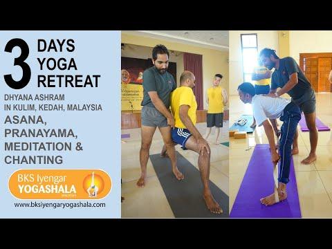 Yoga Retreat In Malaysia Iyengar Yoga By Tilak Raj In Kulim Youtube