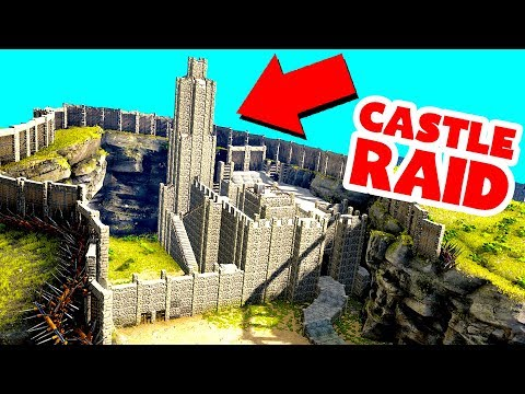 EVERYONE ON THE SERVER RAIDED THIS BASE! BIGGEST RAID ON ARK! (Ark Survival Evolved)