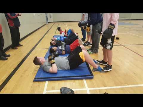 Boxing Practice at Colleen & Gordie Howe Middle School in Abbotsford