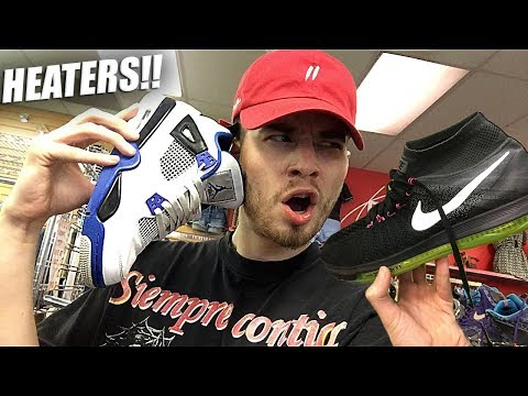 JORDAN MOTORSPORT 4s & NIKE FLYKNITS IN THE THRIFT! Trip to the Thrift #194