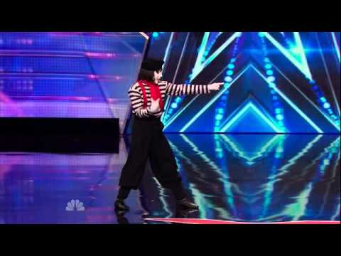 America's Got Talent 2014 - Auditions - Larry the Mime