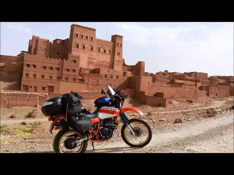 Marocco solitaria Honda XL 600 R Paris Dakar # Morocco adventure solo rider