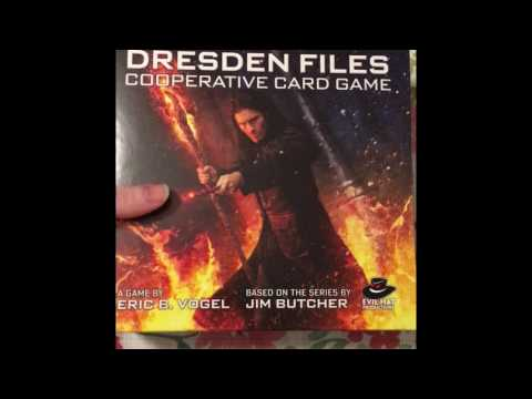 Dresden Files Cooperative Card Game Unboxing