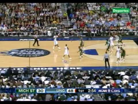 NORTH CAROLINA VS MICHIGAN STATE FINAL NCAA 2009 10 minutos divx