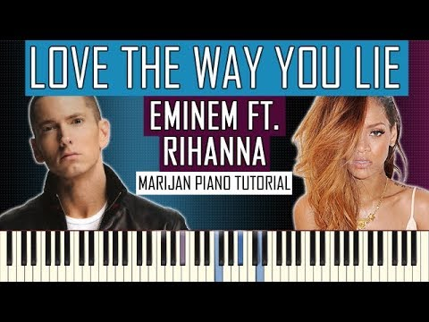 How To Play: Eminem ft. Rihanna - Love The Way You Lie | Piano Tutorial