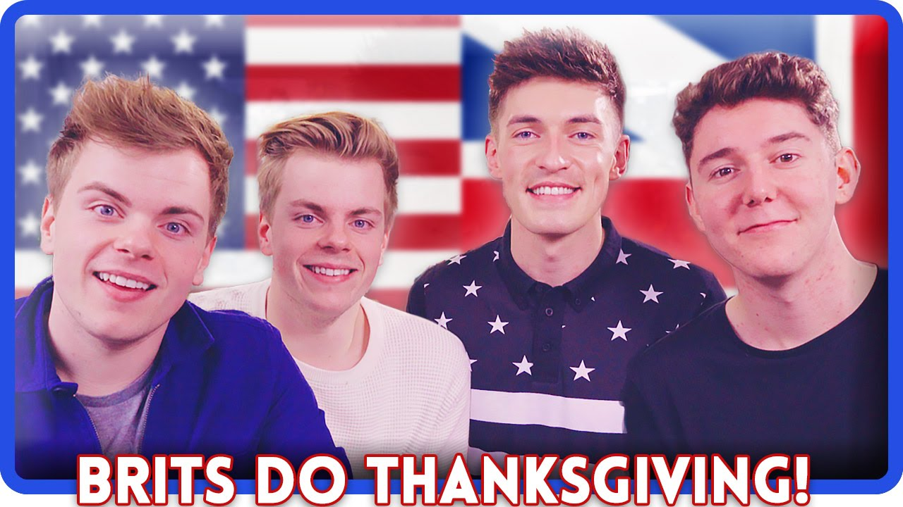 TRYING AMERICAN FOOD!   Thanksgiving ft. MyNamesChai & NIkiNSammy