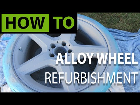 HOW TO Alloy Wheel / Rim Refurbishment and Repair (Mercedes)