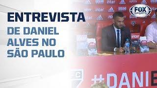 Daniel Alves concede primeira entrevista no São Paulo; direto do Morumbi