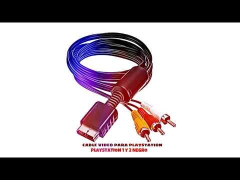 Video de Cable video para PlayStation 1 y 2  Negro