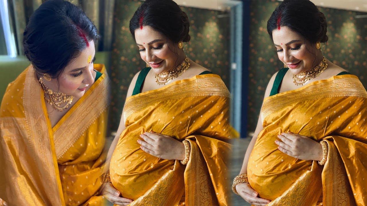সাধ খেলেন শুভশ্রী! অপেক্ষা আর ক'দিনের || Subhashree Ganguly Baby Bump