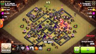 Clash of Clans- ALL MOST COMMON TH9 WAR BASE 3-STAR ATTACK STRATEGIES(LATEST UPDATE)