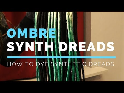 How To Dye Synthetic Dreads Ombre Balayage - DoctoredLocks.com