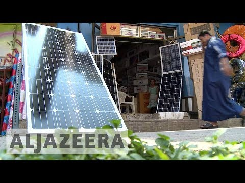 Yemenis depend on solar power amid war