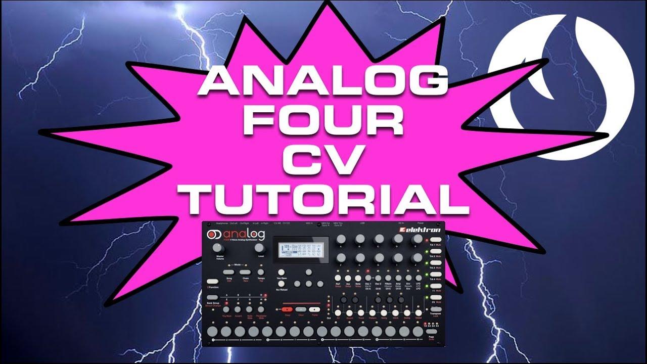 analog four cv tutorial  late night tips
