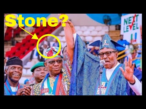 VIDEO: THE MOMENT BUHARI WAS STONED AT THE APC RALLY IN OGUN thumbnail