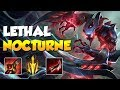 Lethal Tempo Nocturne Carry - Jungle Nocturne Gameplay - League of Legends