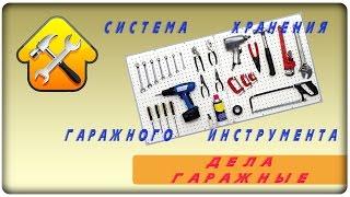 Система хранения гаражного инструмента. Вариант #1(Для удобной организации хранения инструментов и вспомогательной оснастки выпускаются специальные панели..., 2016-09-15T11:16:30.000Z)