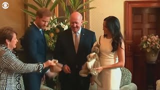 Meghan Markle and Prince Harry visit Sydney, receive gifts for unborn baby