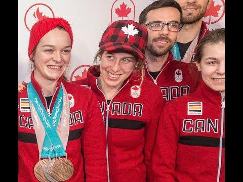 Arrivée de Kim Boutin des olympiques de PyeongChang 2018