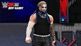 WWE 2K16 Jeff Hardy Entrance, Signature & Finisher!