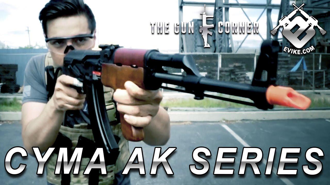 CYMA CM040I Full Metal AK47 Tactical Airsoft AEG Rifle - Black (Package:  Gun Only)