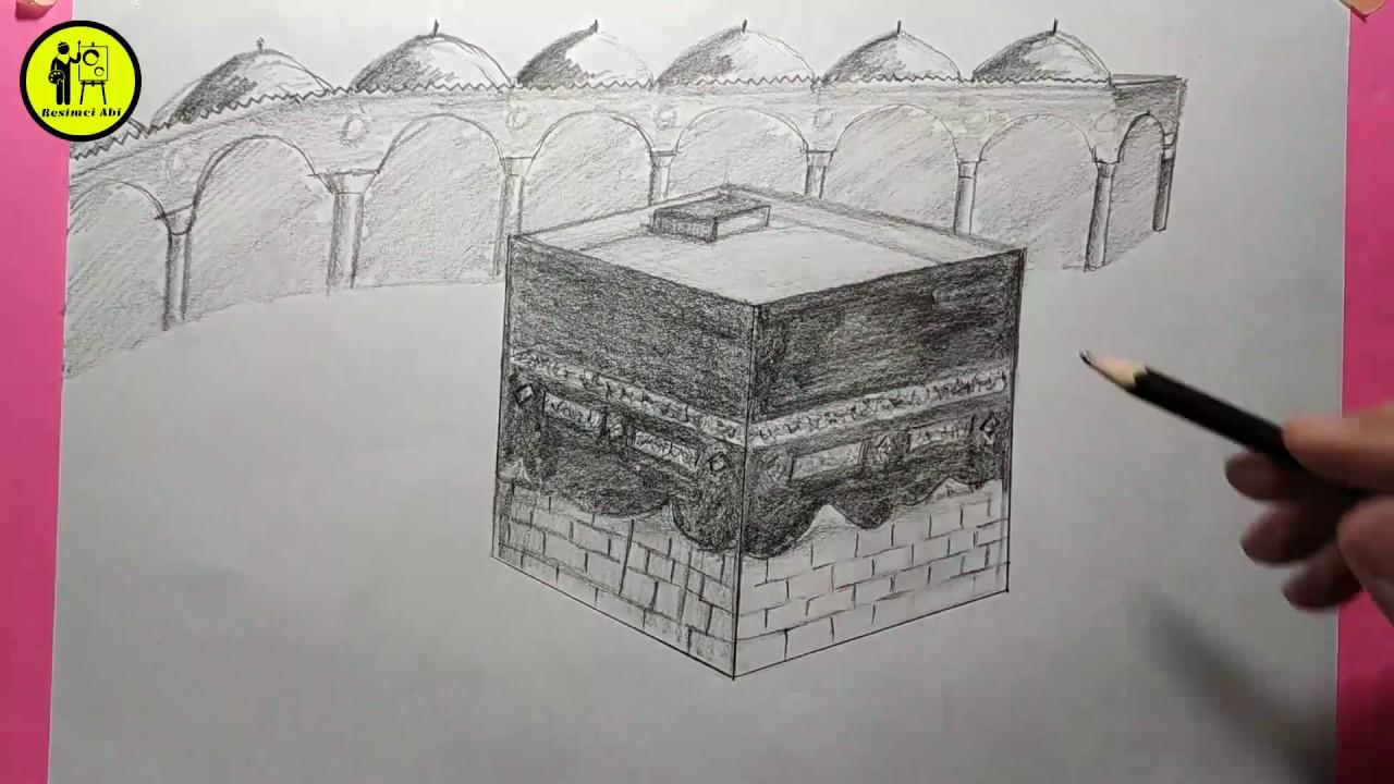 adım adım Kabe çizim كيفية رسم الكعبة Kabe nasıl çizilir?