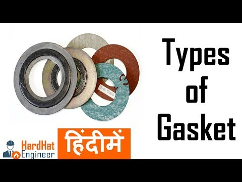 Types of Pipe Gaskets In Hindi हिंदी में - Spiral Wound Gasket , RTJ Gasket, CNAF Gaskets